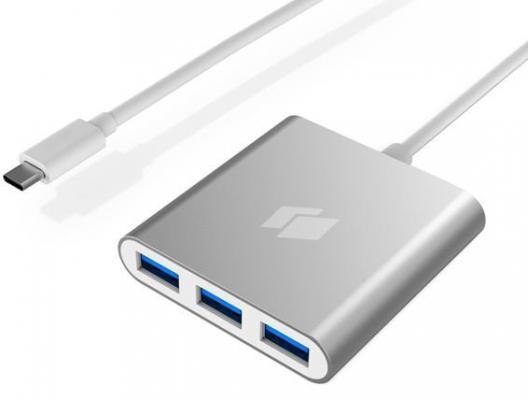 Концентратор USB Hiper C4 3 порта USB 3.0 серебристый