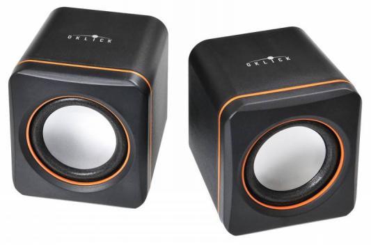 Колонки Oklick OK-301 2x1.25Вт черный/оранжевый