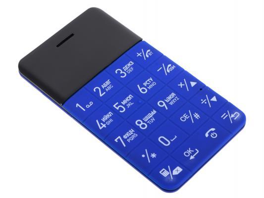 """Мобильный телефон Elari CardPhone голубой 1.1"""" 0,8 Мб"""