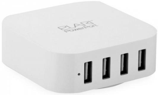 Сетевое зарядное устройство Elari Powerport4 4xUSB 5А белый