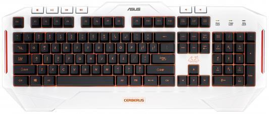Клавиатура проводная ASUS Cerberus Arctic USB белый 90YH00V1-B2RA00