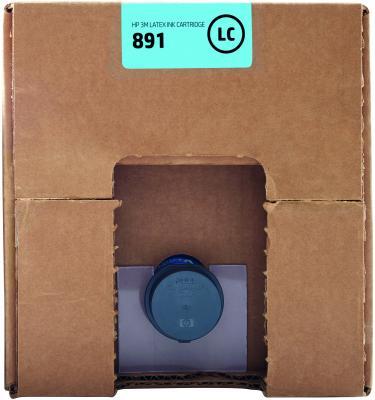 Картридж HP 891 G0Y76A для Latex 3100/3500 светло-голубой картридж hp cn674a для latex 610 светло голубой 3л