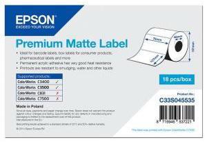 Бумага Epson Premium Matte Label 76x127мм C33S045535