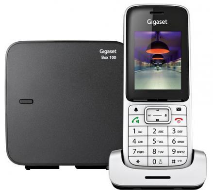 Фото Радиотелефон DECT Gigaset SL450/SYS серебристый/черный радиотелефон dect gigaset c620a черный