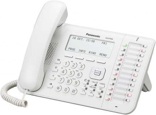 Телефон Panasonic KX-DT546RU белый телефон ip panasonic kx nt553ru белый