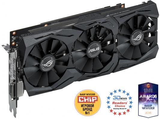 Видеокарта ASUS GeForce GTX 1070 STRIX-GTX1070-8G-GAMING PCI-E 8192Mb 256 Bit Retail (STRIX-GTX1070-8G-GAMING)