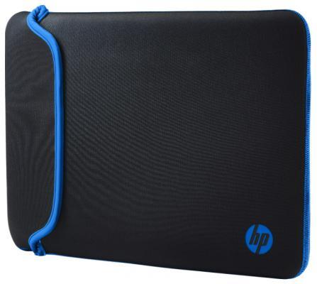 """Чехол для ноутбука 14"""" HP Chroma Sleeve неопрен черный синий"""