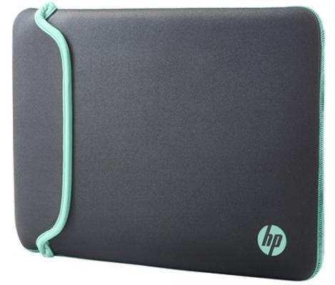 "Чехол для ноутбука 14"" HP Chroma Sleeve неопрен серый зеленый V1M56AA/V5C29AA"