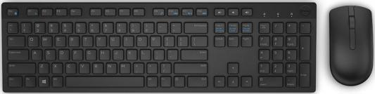 Комплект DELL KM636 Wireless USB клавиатура dell km636 wireless keyboard and mouse black usb