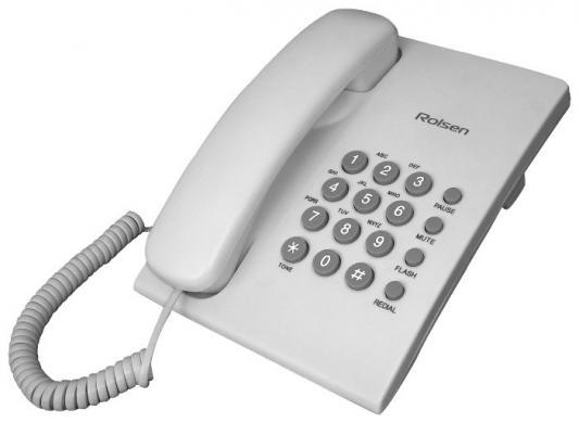 Телефон проводной Rolsen RСT-210 белый