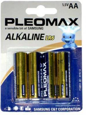 Батарейки Samsung Pleomax LR6-4BL AA 4 шт батарейки samsung pleomax lr6 2bl 2 шт aa