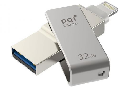 Флешка USB 32Gb PQI iConnect mini серый 6I04-032GR1001 pqi iconnect mini 64gb золотой