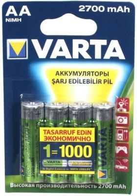 Аккумуляторы Varta LR6/MR6 2700 mAh AA 4 шт аккумуляторы varta lr6 2700 mah aa 4 шт