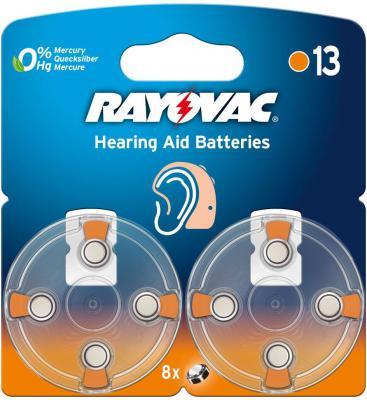 Батарейки Varta Rayovac Acoustic Type 13 PR48 8 шт varta varta rayovac hearing aid ha675