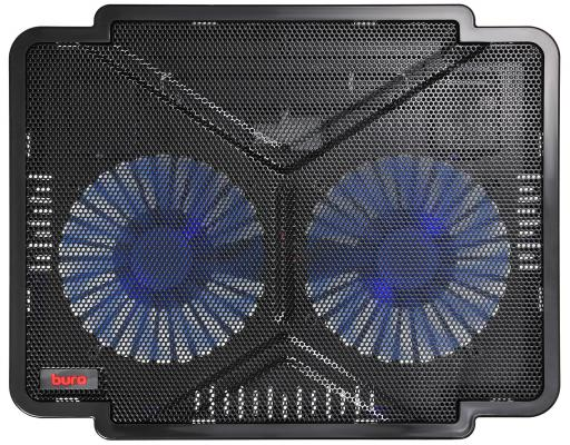 """Подставка для ноутбука 14"""" Buro BU-LCP140-B214 металл/пластик 1000об/мин 22db черный"""
