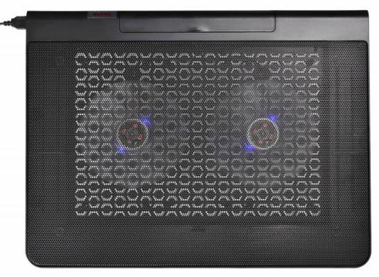Подставка для ноутбука 17 Buro BU-LCP170-B214 металл/пластик 1400об/мин 23db черный подставка для ноутбука 15 6 deepcool multi core x8 100x100x15mm usb 23db