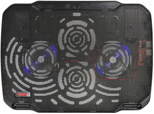 Подставка для ноутбука 15.6 Buro BU-LCP156-B208 металл/пластик 1800об/мин 23db черный подставка для ноутбука 15 6 deepcool multi core x8 100x100x15mm usb 23db