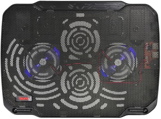 Подставка для ноутбука 15.6 Buro BU-LCP156-B208 металл/пластик 1800об/мин 23db черный подставка для ноутбука до 15 6 cooler master notepal x slim ii r9 nbc xs2k gp пластик металл 900об мин 23db черный
