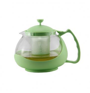 Чайник заварочный Zeidan Z-4106-2 зелёный 1.15 л пластик/стекло
