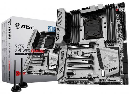 Купить Мат. плата для ПК MSI X99A XPOWER GAMING TITANIUM Socket 2011-3 X99 8xDDR4 5xPCI-E 16x 10xSATAIII ATX Retail