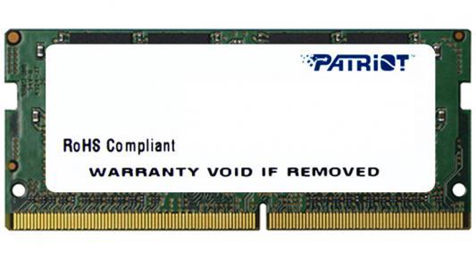Оперативная память для ноутбуков SO-DDR4 4Gb PC4-17000 2133MHz DDR4 DIMM Patriot PSD44G213381S