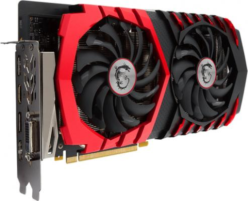 Видеокарта MSI GeForce GTX 1060 GeForce GTX 1060 GAMING X 6G PCI-E 6144Mb GDDR5 192 Bit Retail
