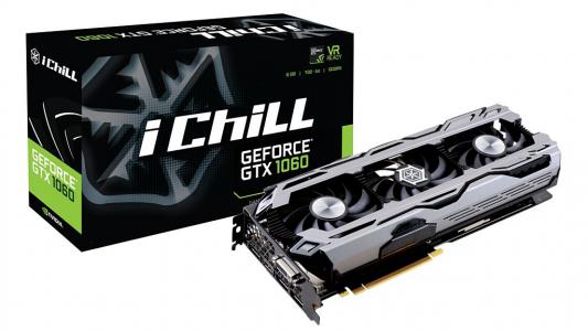 Видеокарта 6144Mb  Inno3D GeForce iChill GTX 1060 PCI-E 192bit GDDR5 DVI HDMI DP HDCP C1060-1SDN-N5GNX Retail