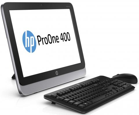 "Моноблок 19.5"" HP ProOne 400 AIO 1600 x 900 Intel Celeron-G1840T 4Gb 500Gb Intel HD Graphics 64 Мб Windows 7 Professional + Windows 8.1 Professional черный N0Q73EC"