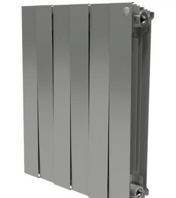 Радиатор Royal Thermo PianoForte 500/Silver Satin 8 секций