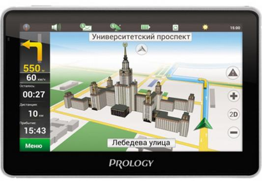 "Навигатор Prology iMap-7500 Навител 7"" 800x480 microSD черный"
