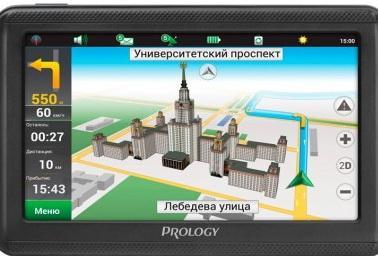 Навигатор Prology IMAP-5200 Навител 5 480x272 microSD черный prology ex 62c