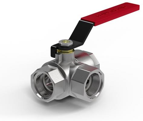 "Кран шаровый Royal Thermo OPTIMAL трехходовой тип T 1/2""  цена и фото"