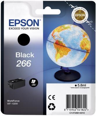 Картридж Epson C13T26614010 для Epson WF-100 черный vilaxh for epson 1410 pickup roller for epson 1390 1410 1430 1400 t1100 b1100 l1300 1900 1800 me1100 r1800 2000 printer