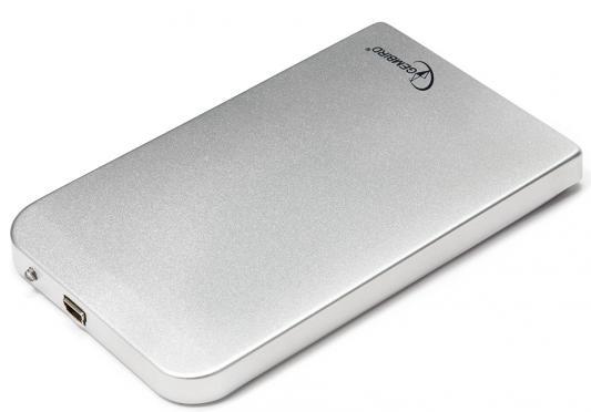 "Внешний контейнер для HDD 2.5"" SATA Gembird EE2-U2S-41-S USB2.0 серебристый"