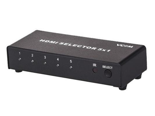 Видеопереключатель VCOM Telecom 5 портов DD435 адаптер переходник vcom telecom usb2 0 sata ide 2 5 3 5 vus7056 внешний бп