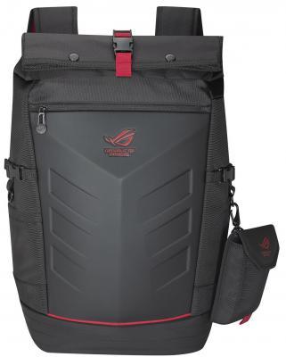 Рюкзак для ноутбука 17 ASUS ROG Ranger нейлон резина черный 90XB0310-BBP010 рюкзак для ноутбука 17 asus rog ranger 2 in 1 нейлон резина черный