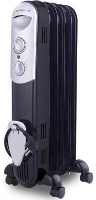 Масляный радиатор Polaris CR 0512B 1200 Вт ручка для переноски чёрный цена