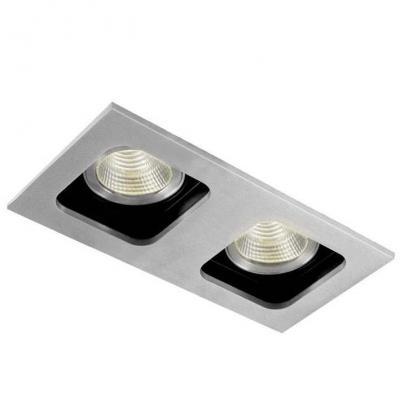 Встраиваемый светильник Donolux DL18614/02WW-SQ Alu/Black встраиваемый светильник donolux sa1543 alu