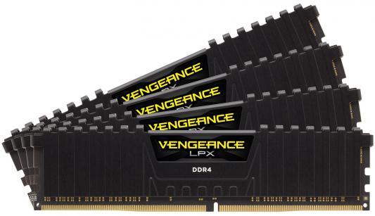Оперативная память 64Gb (4x16Gb) PC4-24000 2400MHz DDR4 DIMM Corsair CMK64GX4M4A2400C16 оперативная память 128gb 8x16gb pc4 24000 3000mhz ddr4 dimm corsair cmr128gx4m8c3000c16w