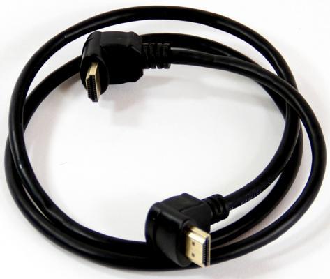Кабель HDMI 1.0м VCOM Telecom v1.4 W/Ethernet/3D CG501D_A90_1M с угловыми коннекторами