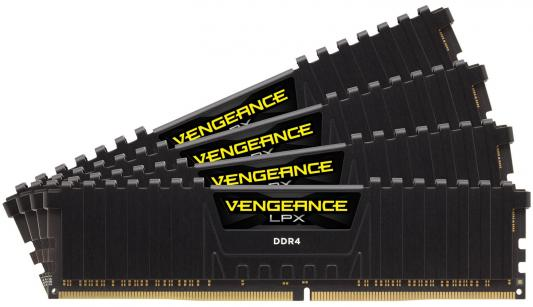 Оперативная память 64Gb (4x16Gb) PC4-24000 2666MHz DDR4 DIMM Corsair CMK64GX4M4A2666C16 оперативная память 128gb 8x16gb pc4 24000 3000mhz ddr4 dimm corsair cmr128gx4m8c3000c16w