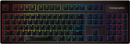 Клавиатура Tesoro Excalibur Spectrum Blue USB черный TS-G7SFLBlue