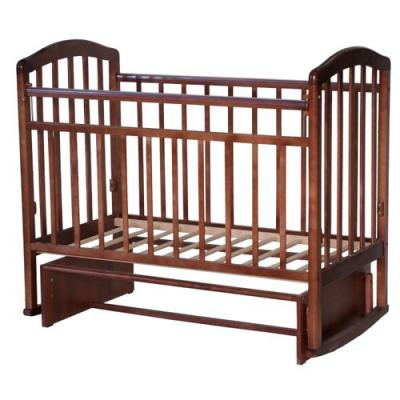Кроватка с маятником Антел Алита-3 (орех)
