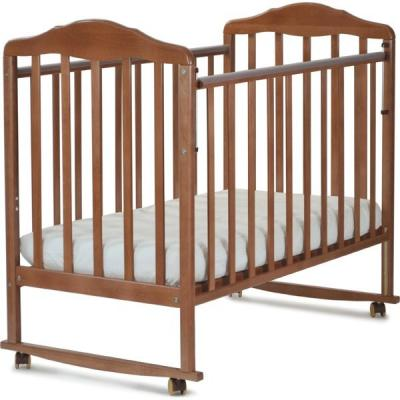 Кроватка-качалка СКВ Березка (орех/120117) кроватка скв 8 830037 9 орех бежевый