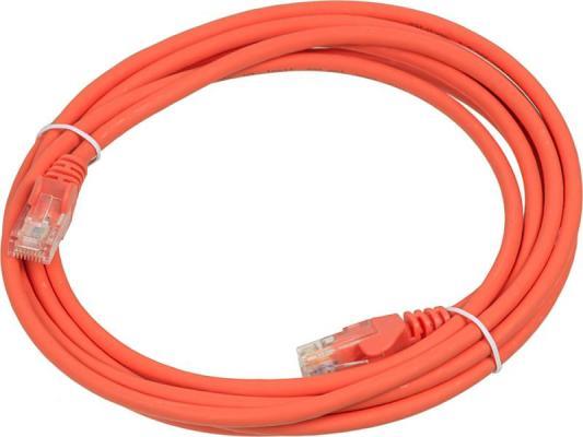 Патч-корд Lanmaster 5E категории UTP оранжевый 3м LAN-PC45/U5E-3.0-OR цена и фото