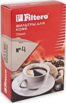 Фильтр для кофе Filtero №4/80 коричневый