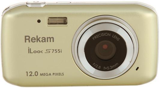 """Цифровая фотокамера Rekam iLook S755i 12 Mpx 1.8"""" LCD шампань"""