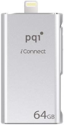 Флешка USB 64Gb PQI iConnect 6I01-064GR1001 серебристый usb накопитель pqi iconnect 128gb серебристый 6i01 128gr1001