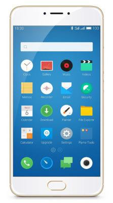 "Смартфон Meizu M3 Note золотистый 5.5"" 16 Гб Wi-Fi LTE GPS"