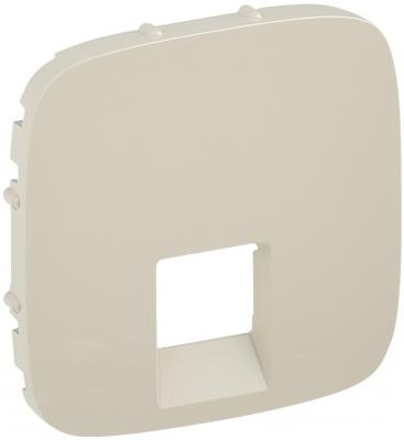 Лицевая панель Legrand Valena Allure для одиночных телефонных/информационных розеток cлоновая кость 755416